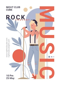 Character music band live rock,jazz stylish banner poster web online concept.