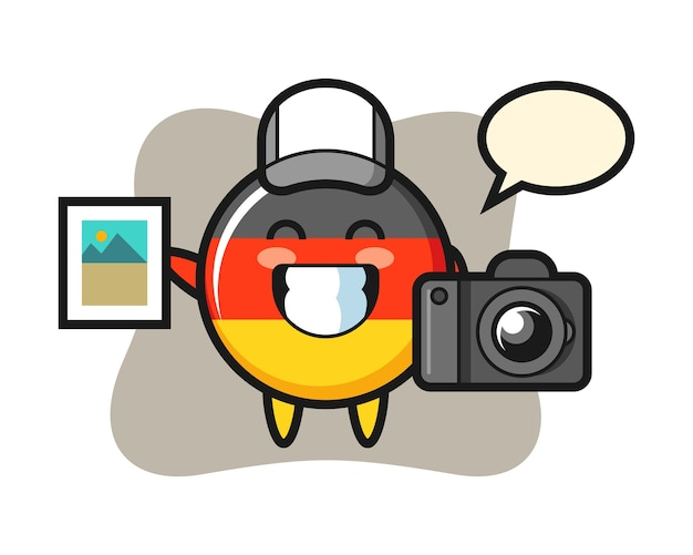 Символ значка флага германии как фотограф
