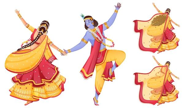 クリシュナ卿とラダが踊るキャラクター