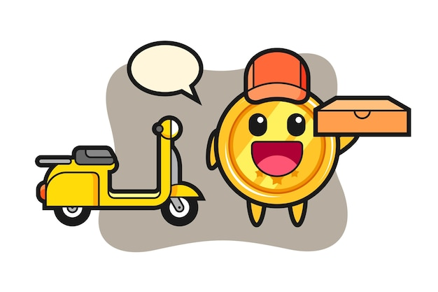 피자 배달원 메달 캐릭터