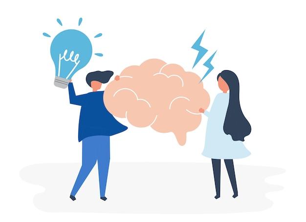 Характер людей, знающих иконки творческих идей