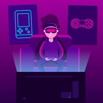 Характер игры концепции видеоигры