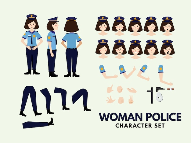 Character set woman police