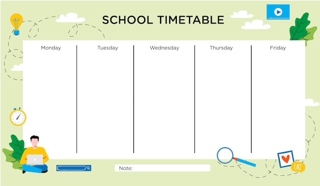 Character timetable