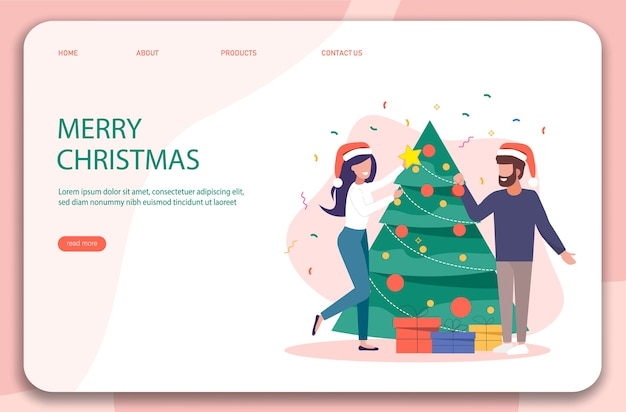 Characters decoration. merry christmas background