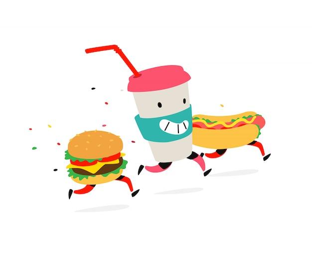 Characters hamburger