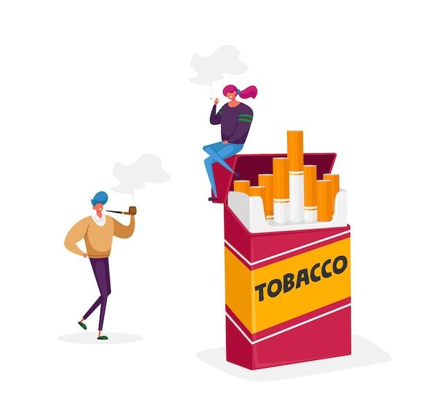 Персонажи, курящие зависимость и концепция вредных нездоровых привычек