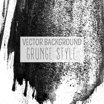 Charcoal drawing grunge style vector background