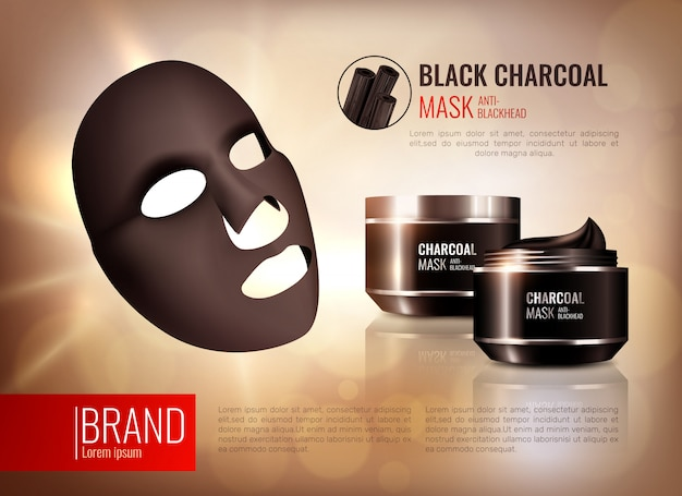 Charcoal face mask poster