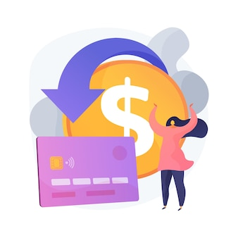 Chargeback abstract concept illustration