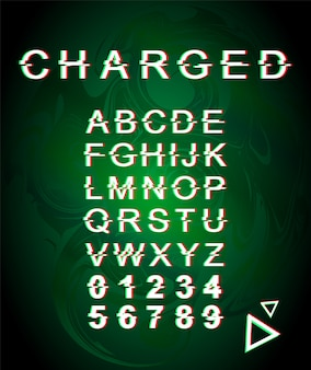 Charged glitch font template