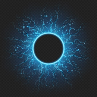 Charged with energy elementary particle electric frame lightning atmospheric phenomenon.