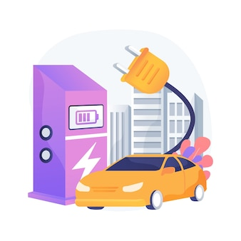 Charging station abstract concept illustration