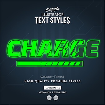 Charging text style