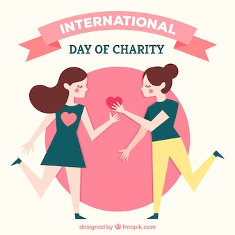 Charity day background