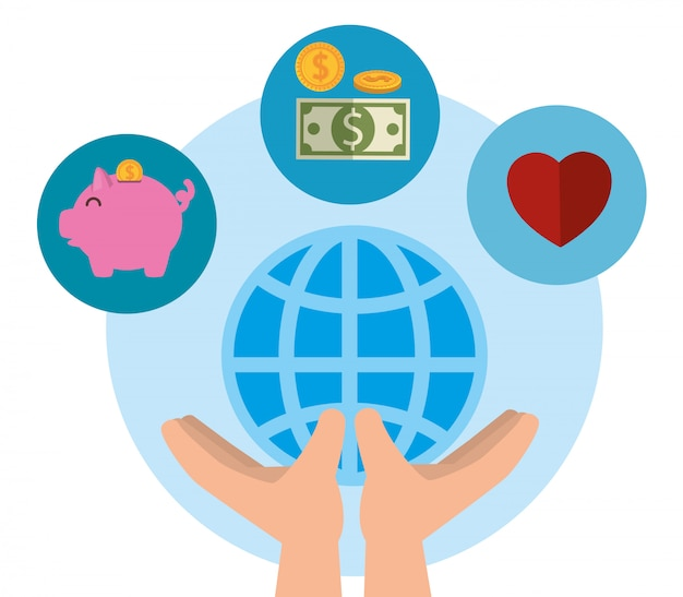 Sfondo di donazione di beneficenza