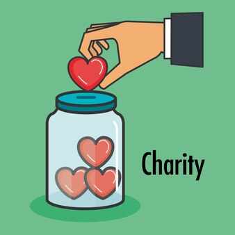 Charity and donation give and share your love