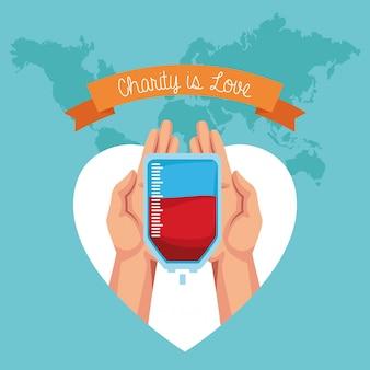 慈善団体は愛の漫画です