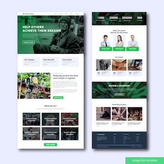 Charity landing page template