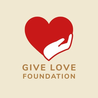 Charity logo template, no-profit branding design vector