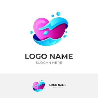 Charity logo template, social icon, colorful style