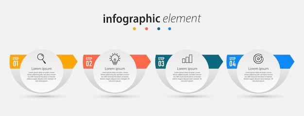 チャートデザインのインフォグラフィックテンプレート