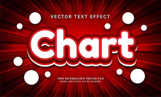 현대적인 붉은 색 테마가 있는 차트 편집 가능한 텍스트 효과