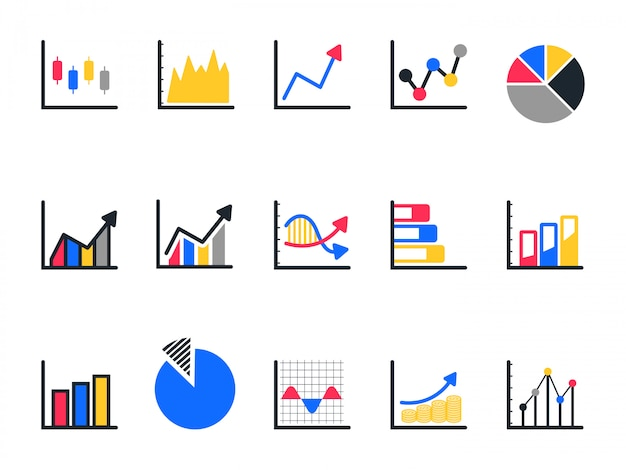 Chart and graph icon set, pie chart icon.