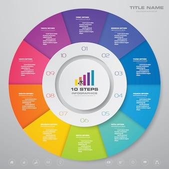 Chart infographics element