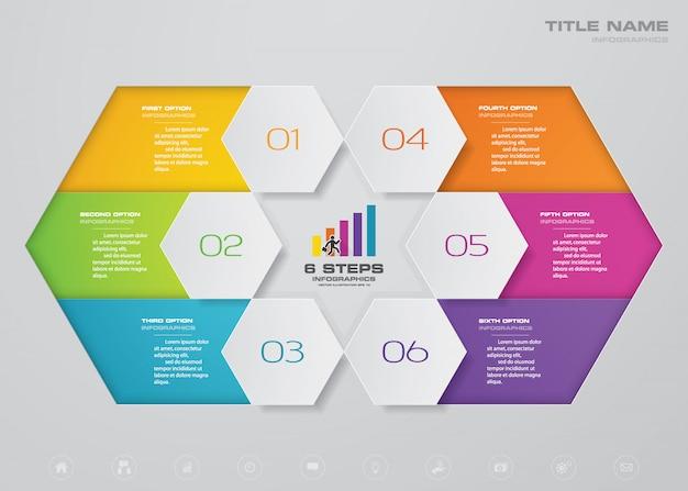 Chart infographics element.