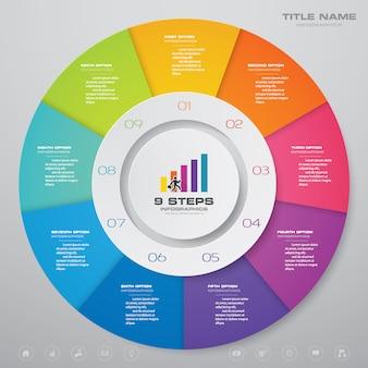 Chart infographics elements.