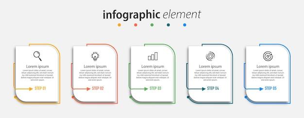 Шаблон инфографики временной шкалы диаграммы