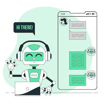 Illustrazione di concetto di chat bot
