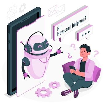 Chat bot concept illustration