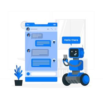 Chat botconcept illustration