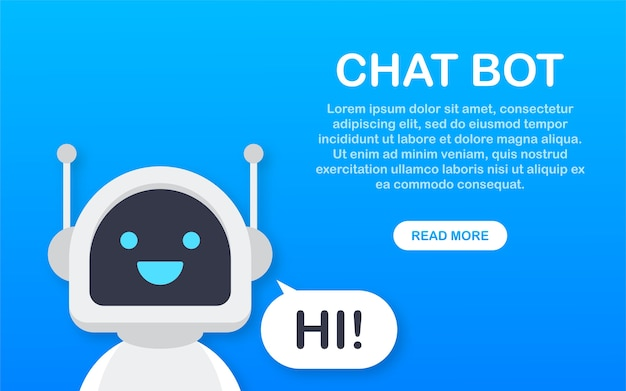 Chat bot, robot virtual assistance. voice support service bot. online support bot
