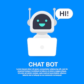 Chat bot using laptop computer template