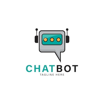 The chat bot vector design illustration modern flat style chat bot icon