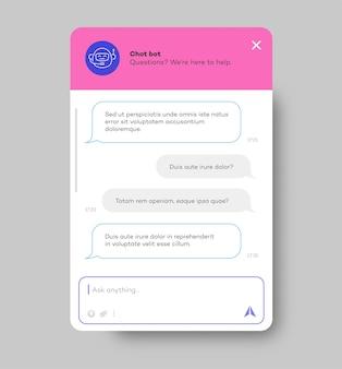 백그라운드 소셜 커뮤니케이션 채팅에서 격리된 웹사이트 및 모바일 앱용 채팅 봇 창