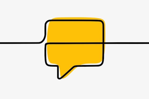 Чат-бокс общение онлайн непрерывная линия искусства