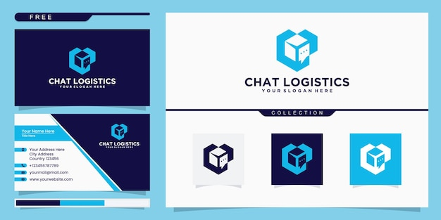 Chat box logo inspiration and business card design