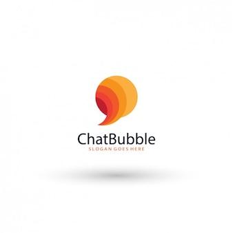 Чат пузыря логотип