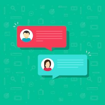 Chat bubble messages vector flat cartoon