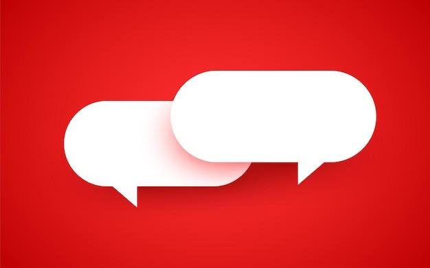 紙のスタイルでチャットバブルサインコミュニケーションの概念