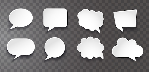 Chat bubbles collection