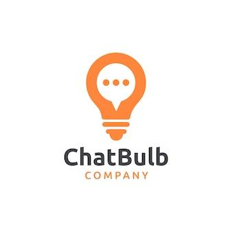 Chat bulb logo design