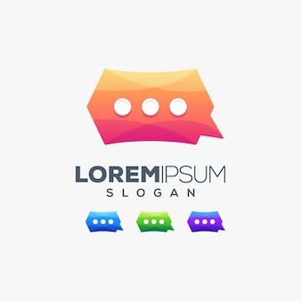 Чат красочный логотип