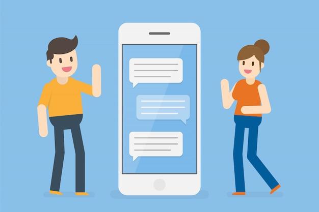 Chat concept illustration.