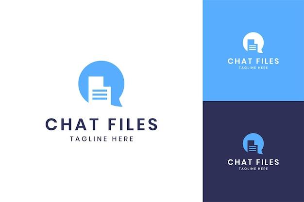 チャットファイルのネガティブスペースのロゴデザイン