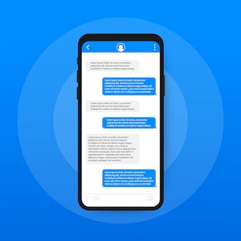 Chat interface application with dialogue window.